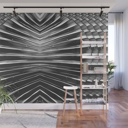 Black and white seashell texture Wall Mural