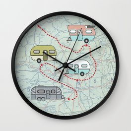Get Your Kicks Wall Clock