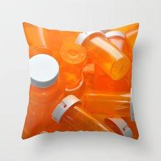 Pill Bottles Throw Pillow
