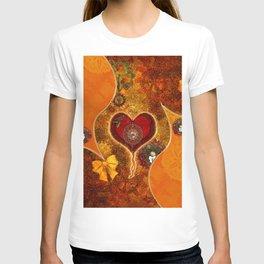 Steampunk, wonderful steam heart T-shirt