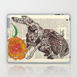 Jumpin' Jack Flash  (jack rabbit and cactus flower on dictionary page) Laptop & iPad Skin