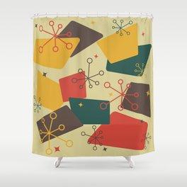Mid Century Modern Futuro (gold) Shower Curtain