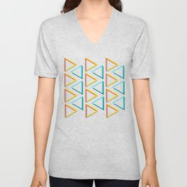 Impossible triangles geeky pattern. Unisex V-Neck