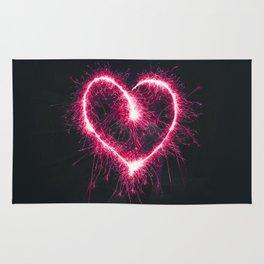 Firework Heart (Color) Rug