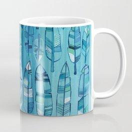 Indigo Feathers Coffee Mug