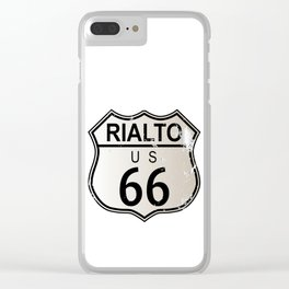 Rialto Route 66 Clear iPhone Case