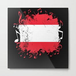 Austria Music Flag Metal Print