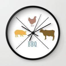BBQ Hipster Logo Wall Clock