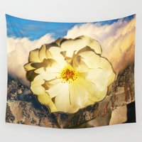 easter Wall Tapestries featuring Easter Rose by CrismanArt