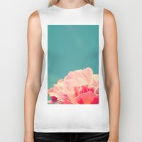 shabby chic Biker Tanks featuring Shabby Chic Rose Photograph by Scarlett Ella