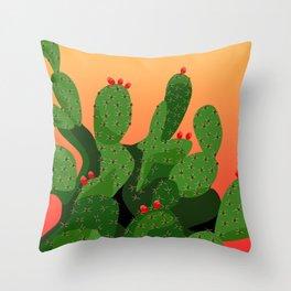 Prickly Pear Desert Sunset Throw Pillow