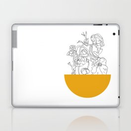 VESSEL - Floral Ink in Mustard - Cooper and Colleen Laptop & iPad Skin
