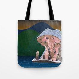 Hippo Rain Tote Bag
