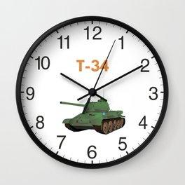 Soviet T-34 Tank Wall Clock