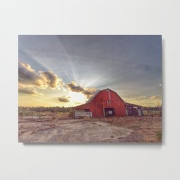 The Hunter Barn Metal Print