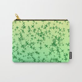 Green Stars Carry-All Pouch