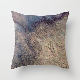 Satellite image of Cal Madow - Somalia Throw Pillow