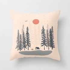Feeling Small in the Morning... Throw Pillow