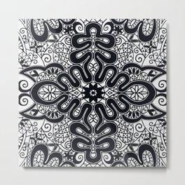 Elegant Black and White Metal Print