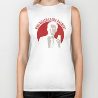 laura palmer Biker Tanks featuring Who killed Laura Palmer twin peaks v2 by Buby87
