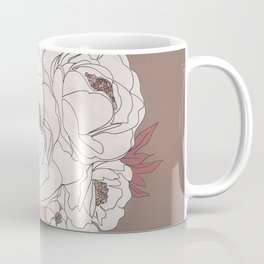 Woman with Peonies Coffee Mug