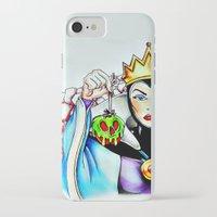 evil queen iPhone & iPod Cases featuring Evil Queen by Bernadette Woods