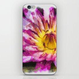 Purple Violet Lotus Flower Art iPhone Skin