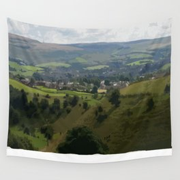 Rochdale Hilltop view Wall Tapestry
