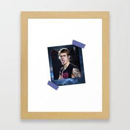Justin Galaxy Polaroids Framed Art Print