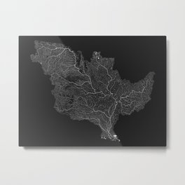 The Mississippi-Missouri-Ohio Basin Metal Print