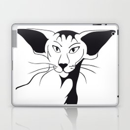 Mean look with a gentle heart Laptop & iPad Skin