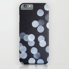 No. 44 - Print of Bokeh Inspired Black and White Modern Abstract Painting iPhone 6s Slim Case