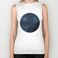 map Biker Tanks featuring Celestial Map by Rose's Creation