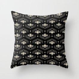Spooky Moths Throw Pillow