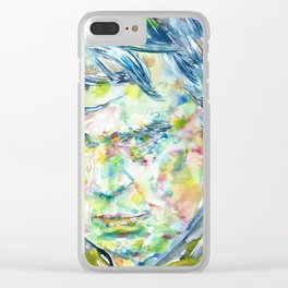 ANTHONY BURGESS - watercolor portrait Clear iPhone Case