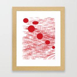 red planets Framed Art Print