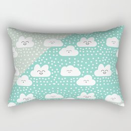sweet cloud winter design #society6 #decor #buyart #artprint Rectangular Pillow