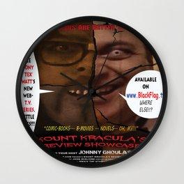 Kount Kracula's Review Showcase -TV Show Promo Poster  Wall Clock