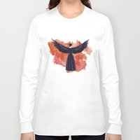 mockingjay Long Sleeve T-shirts featuring Mockingjay by Cyrilliart