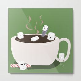 Marshmallow Hot Tub Metal Print