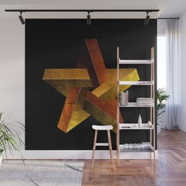 Impossible Star Shape Wall Mural