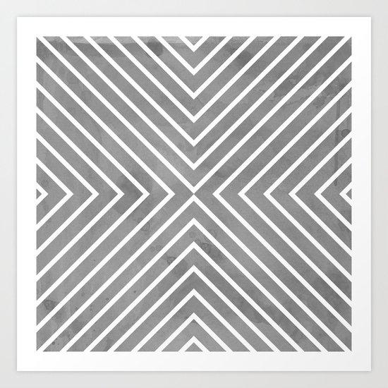Stripes in Grey Art Print