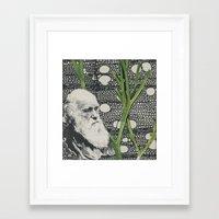 darwin Framed Art Prints featuring Darwin-ing by Eleanor Boersma