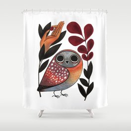 Ground Owl Shower Curtain