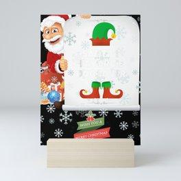 Santas Favorite Dog Lover Christmas Funny Gift Mini Art Print