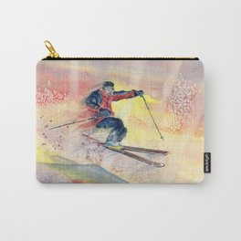 Colorful Skiing Art Carry-All Pouch