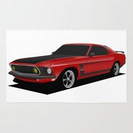 Mustang Boss Red Rug