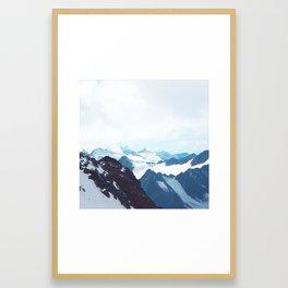 No limits - mountain print Framed Art Print