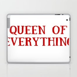 Queen of Everything in Red Laptop & iPad Skin