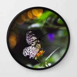 Butterflies + Twinkle Lights 1 Wall Clock